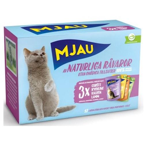 Mjau, multipack köttsmaker i gelé, 12*85 gr