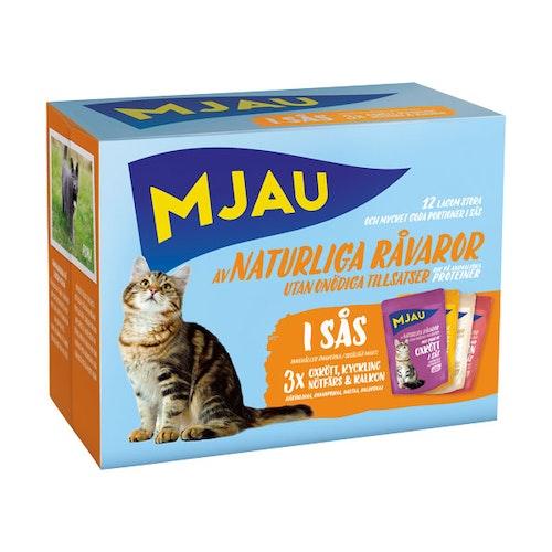 Mjau, multipack köttsmaker i sås 12*85 gr 1st
