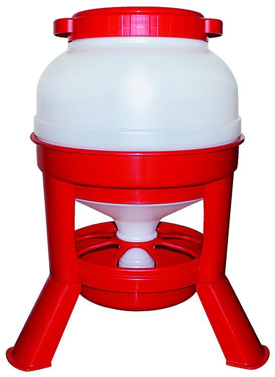 Foderautomat, röd 20 Liter