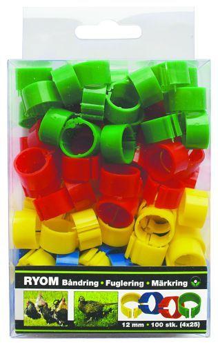 Märkringar mixade färger, 12 mm - 100 st 100st