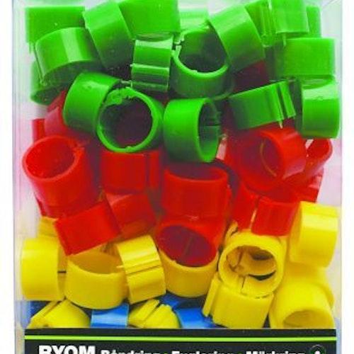 Märkringar mixade färger, 16 mm - 100 st 100st