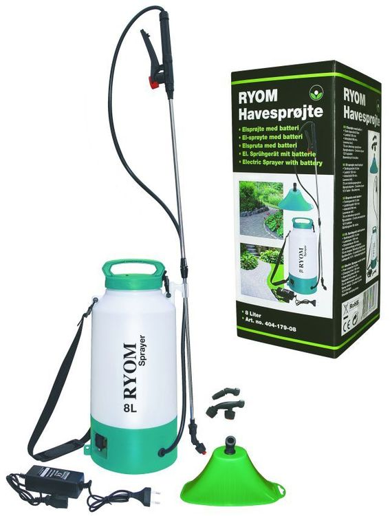 Eltryckspruta Ryom 8 lit inkl batteri  1st