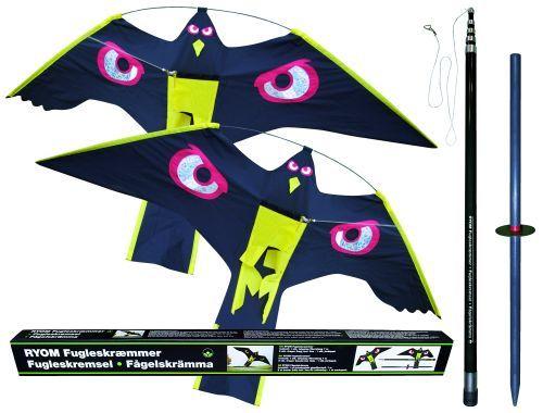 Fågelskrämma set, 7 meter teleskop och 2 drakar - rovfågel 1st
