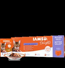 IAMS Delights Kött- & fiskkollektion i gelé