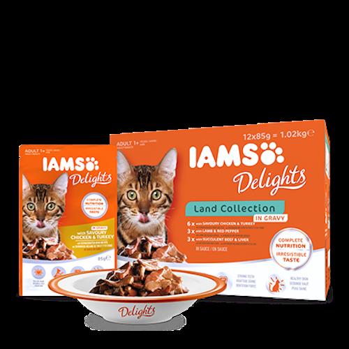 IAMS Delights Köttkollektion i sås
