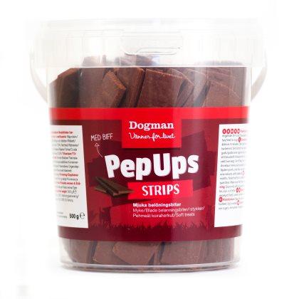 6 burkar Pep Ups Strips biff (3kg)