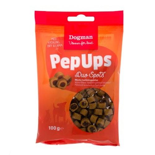 Pep Ups Duo Spots 3-smak 100g