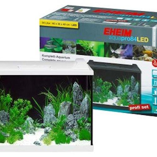 EHEIM AQUAPRO 84L LED VIT KOMPLETT 60x40x35CM