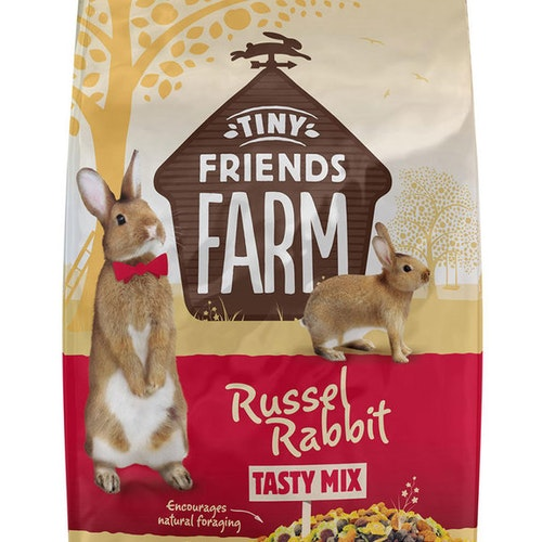Russel Rabbit, olika storlekar