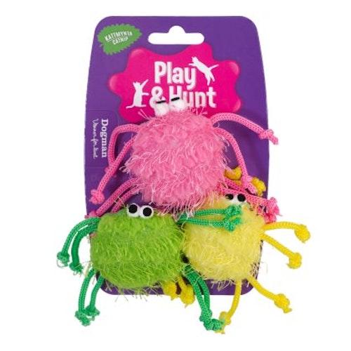Färgglada spindlar 3-pack