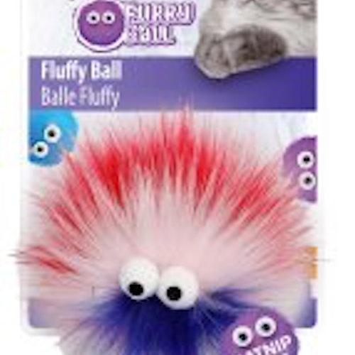 Furry ball med stora ögon
