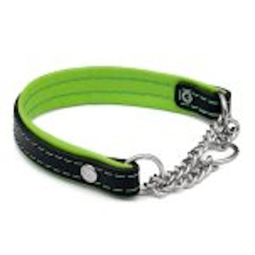 Halsband med kedja, Svart/Lime