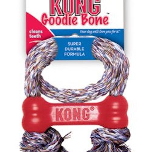 Kong, goodie bone med rep. Flera storlekar