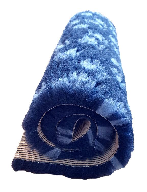 Marinblå Fäll med Tassar, olika storlekar
