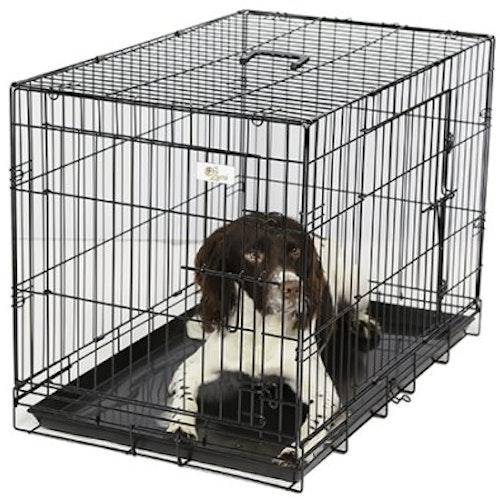 Hundbur rektangulär, svart. Olika storlekar.