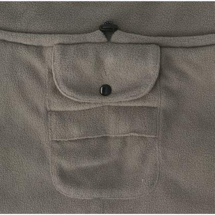 Fleecetäcke Dezzi, tjockt o värmande, grått.