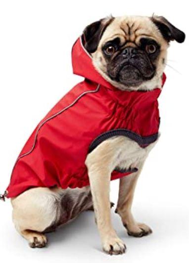 Vändbar, stretchande regnjacka, go fresh pet! Röd.