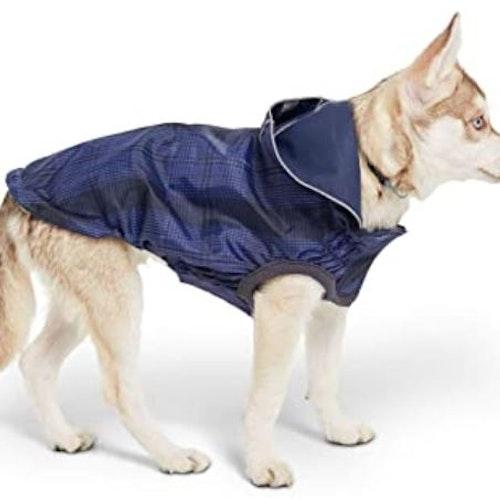 Vändbar, stretchande regnjacka, go fresh pet! Blå.