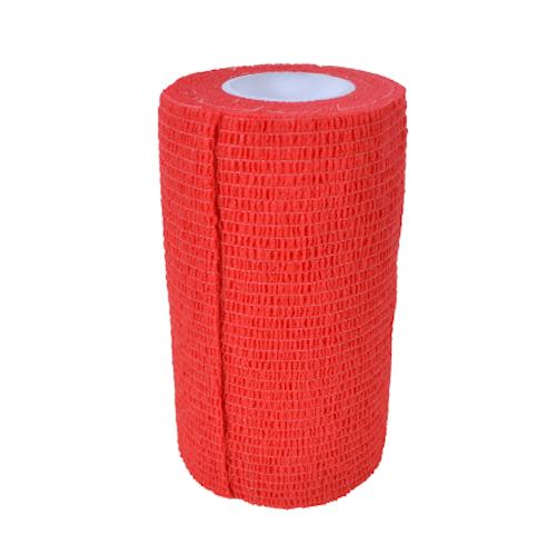 Elastiskt bandage, självhäftande. Röd 12-pack.