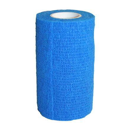Elastiskt bandage, självhäftande. Royalblå 12-pack.