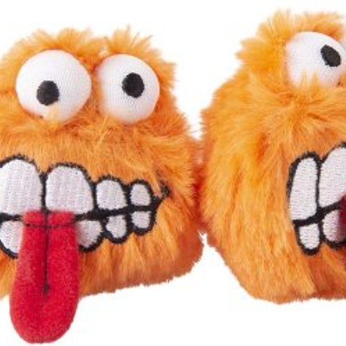 ROGZ PLUSH FLUFFY GRINZ 2-PACK ORANGE