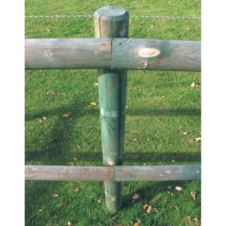 Stängselstolp svarvad 7x175 cm
