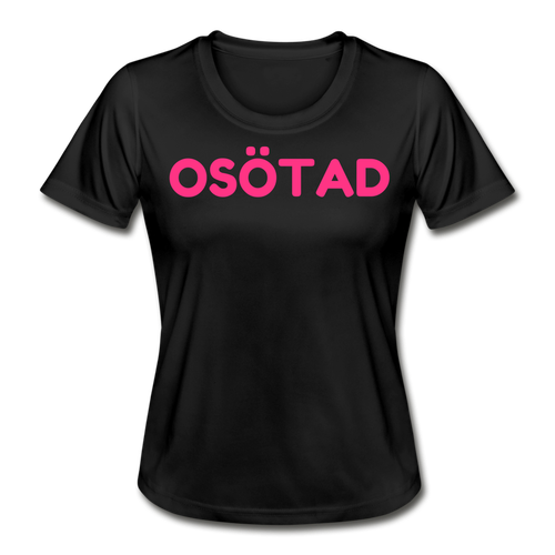 OSÖTAD FUNKTIONS T-SHIRT SVART/ROSA