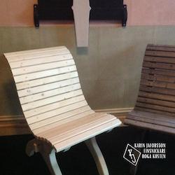 Trädgårdsstol i gran - design Karin Jacobsson