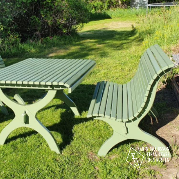 Trädgårdsbord i gran - Karin Finsnickare Höga Kusten