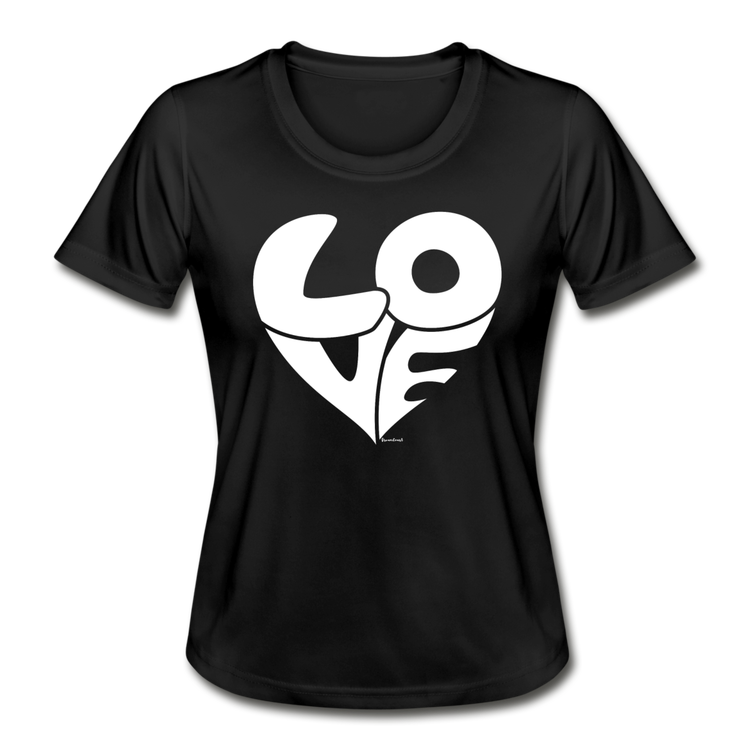 T- SHIRT LOVE SVART/VIT