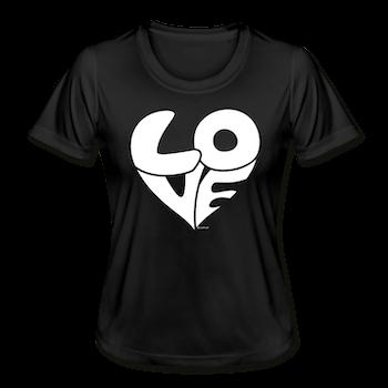 T- SHIRT LOVE SVART/VIT