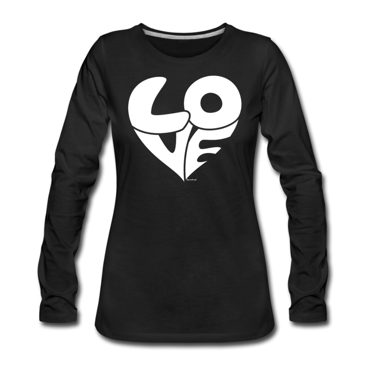 T-Shirt lång ärm LOVE svart/vit