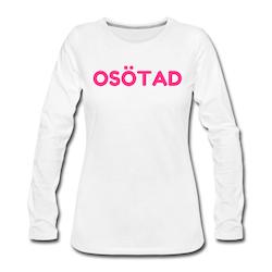 T-Shirt lång ärm OSÖTAD vit/neonrosa