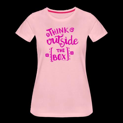 T-SHIRT, THINK OUTSIDE THE BOX, LJUSROSA