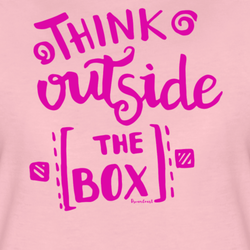T-SHIRT, THINK OUTSIDE THE BOX, LJUSROSA