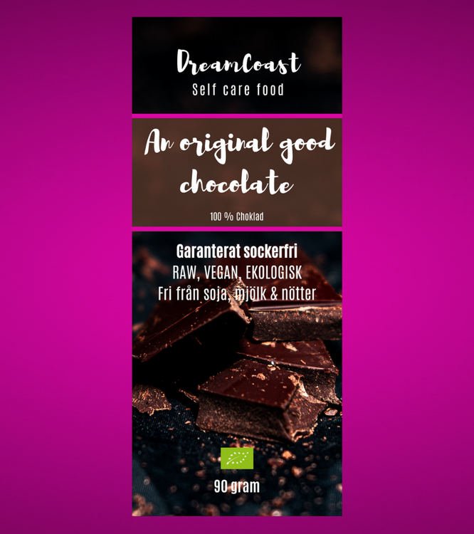 AN ORIGINAL GOOD CHOCOLATE - EKOLOGISK SOCKERFRI CHOKLAD  - 90 gram