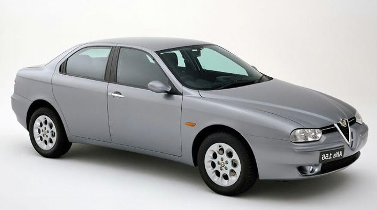 Precut window tint film for Alfa Romeo 156 sedan.
