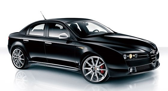 Precut window tint film for Alfa Romeo 159 sedan.