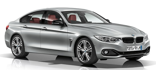 Precut window tint film for BMW 4-serie Gran Coupé.