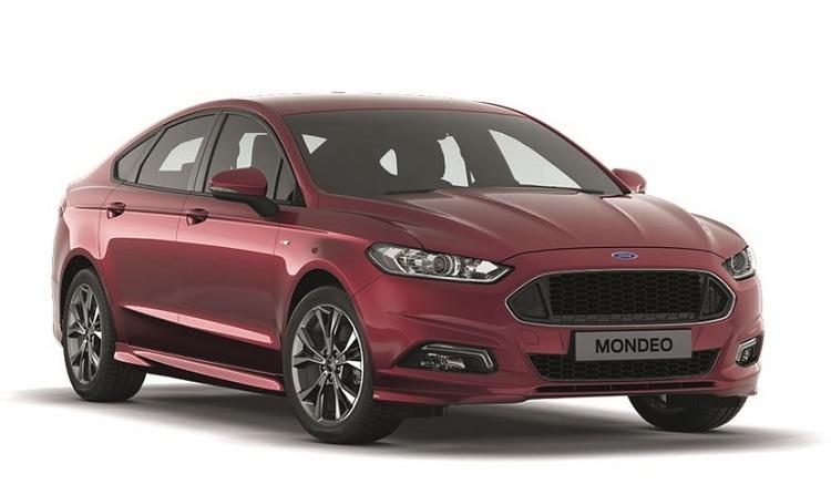 Precut window tint film for Ford Mondeo sedan.