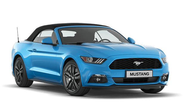 Precut window tint film for Ford Mustang cabriolet.