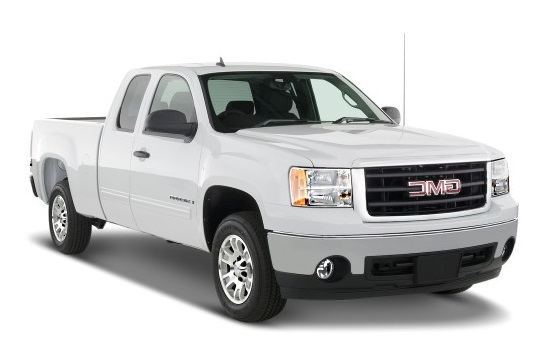 Precut window tint film for GMC Sierra Extended cab.