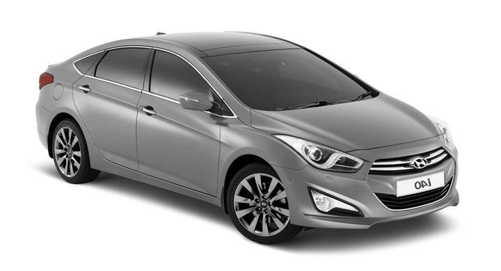 Precut window tint film for Hyundai i45 sedan.