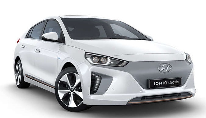Precut window tint film for Hyundai IONIQ.