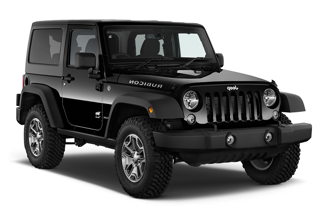 Precut window tint film for Jeep Wrangler.