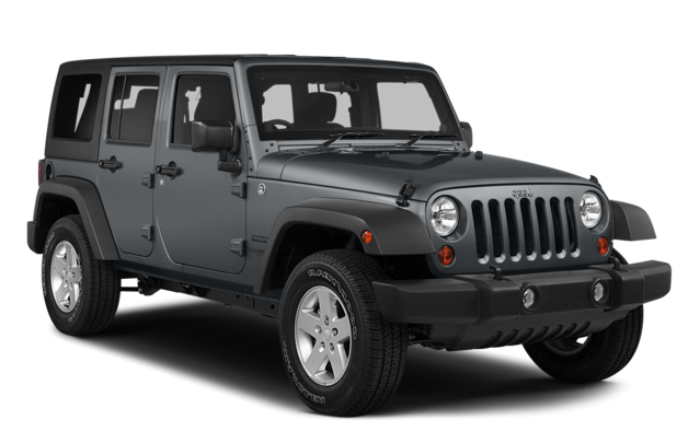 Precut window tint film for Jeep Wrangler Unlimited.
