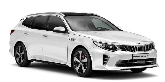 Precut window tint film for Kia Optima Sportswagon.