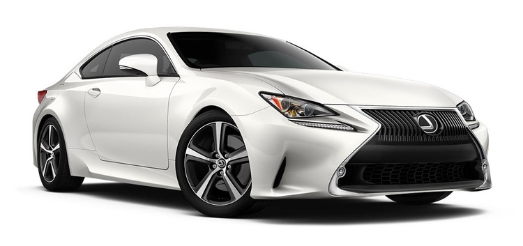 Precut window tint film for Lexus RC.