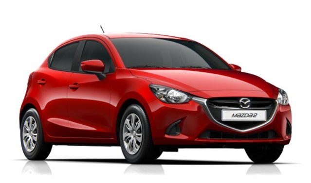 Precut window tint film for Mazda 2.