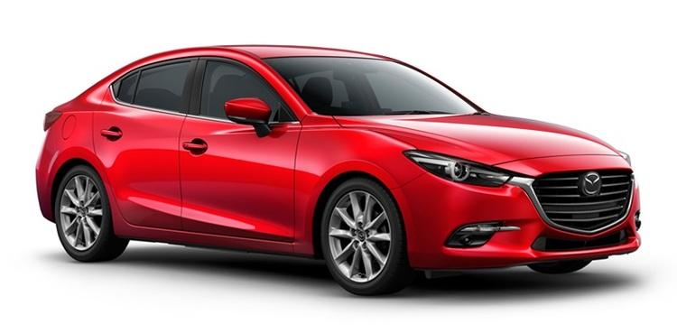 Precut window tint film for Mazda 3 sedan.